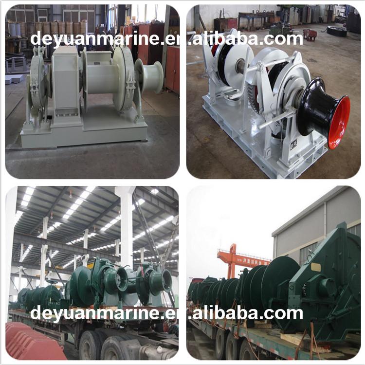 10-447 Kn Marine Hydraulic Tugger Winches / Electric Single Drum ...