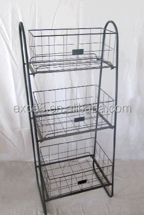Vintage 3 Tier Fruit Basket Stand