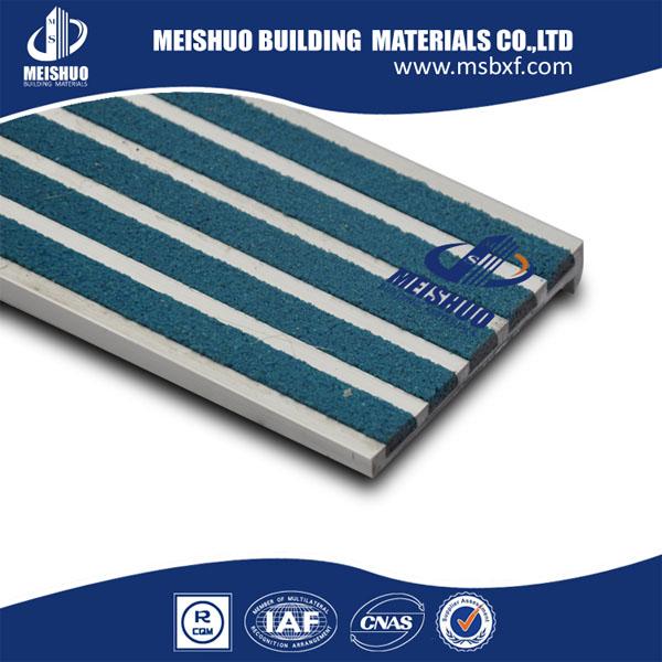 Industrial Stair Treads/Aluminum Stair Nosings For Slip Resistant (MSSNC 9)