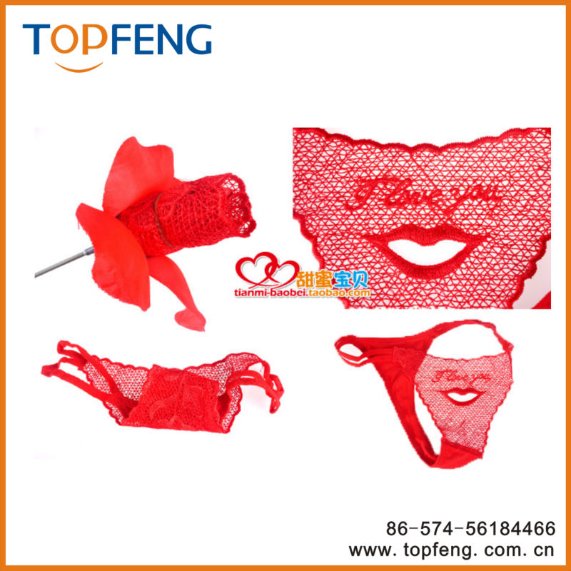 78e4f6ddc ladies red rose pantiesunderwear valentines day gifts sexy t back flower  package