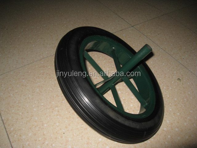 whole sale spokes13*3 prower stone solid rubber wheel for wheelbarrow, hand truck ,trolley
