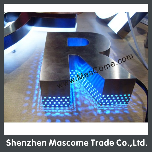 Outdoor Shop Sign Lights: Led Exposed Lamp Bead Letter And Sign