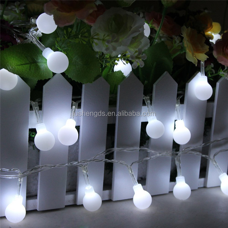 20 Led White Hearts Rattan Ball String Lights For Home Decoration ...
