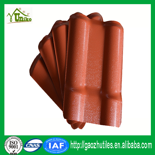 Hemp Coated Surface Waterproof Roofing Sheets Fireproof Insulation Impact  Resistance Synthetic Roof Tile
