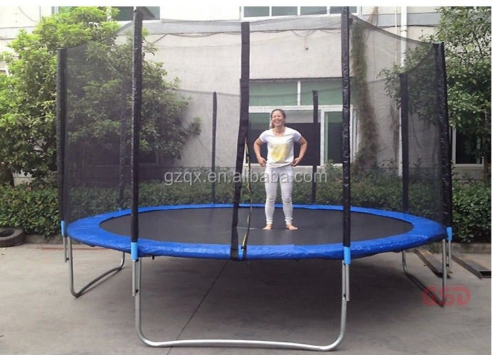 Hot Sale Hexagonal Trampoline Sport With Roof Qx 118a