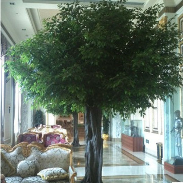 large artificial ficus tree with fiberglass trunk golden leaves for decoration - Ficus Trees