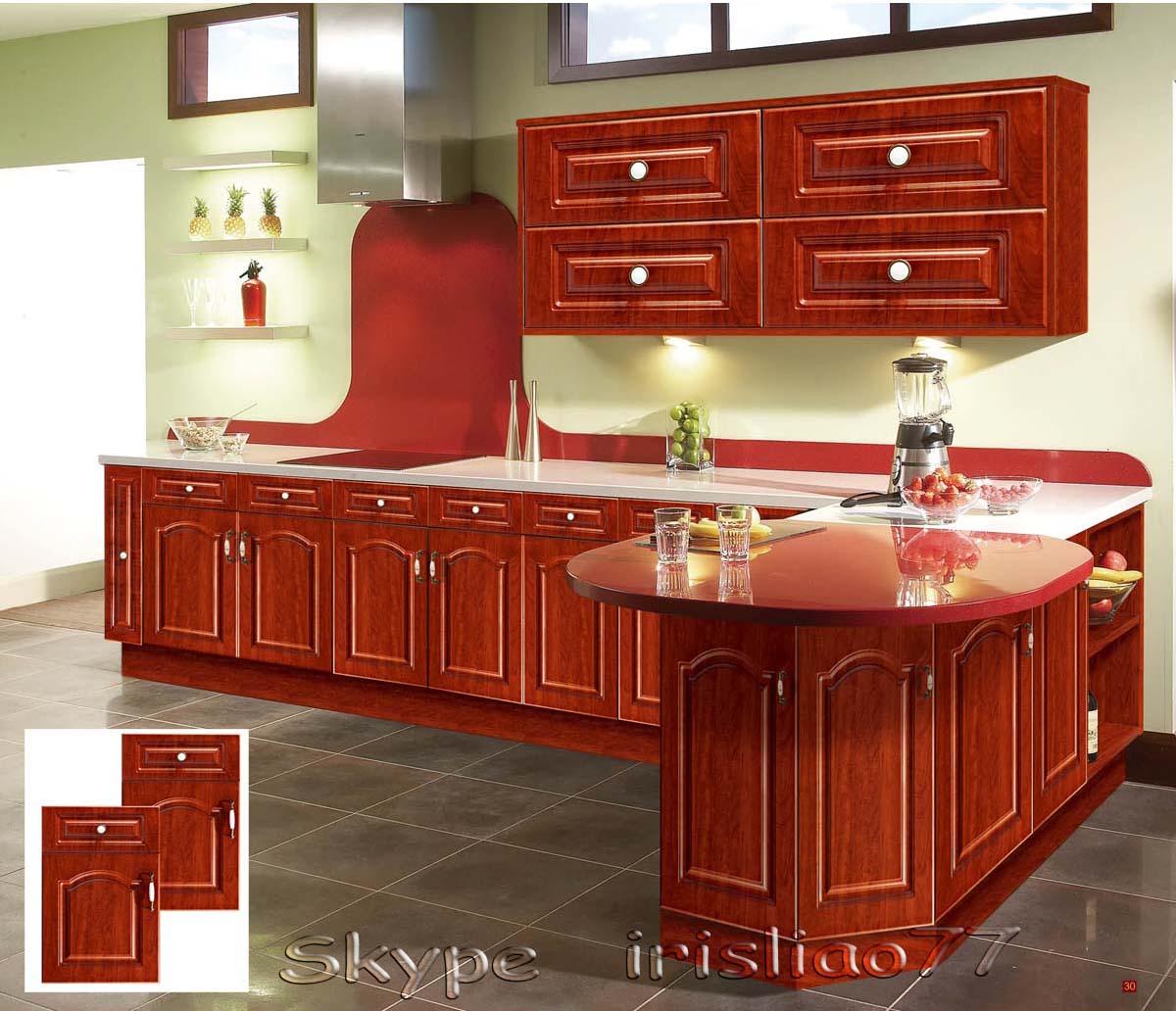 Zhihua Dise O Personalizado De Alta Calidad De Moda Pvc Mueble De  # Muebles De Cocina De Madera