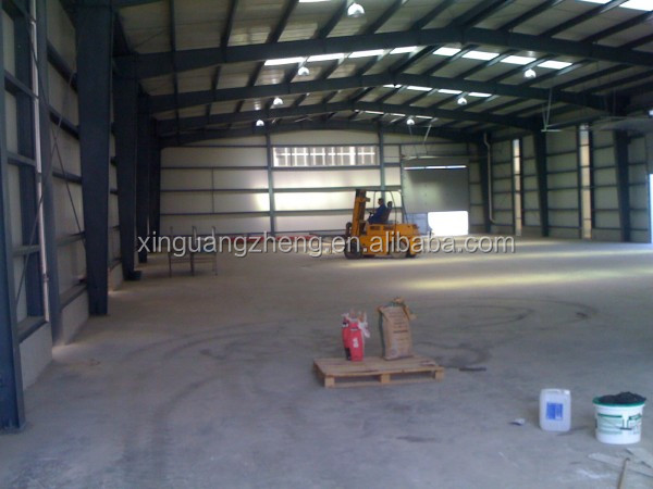 prefabricated steel frame industrial storage sheds logistics warehouse