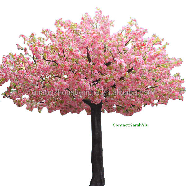 artificial plant/artificial plants and trees/china pink cherry Artificial Bushes and Trees