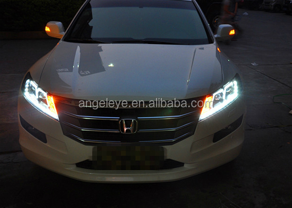 Crosstour Led F Style Strip Headlights Bi Xenon Projector Lens ...