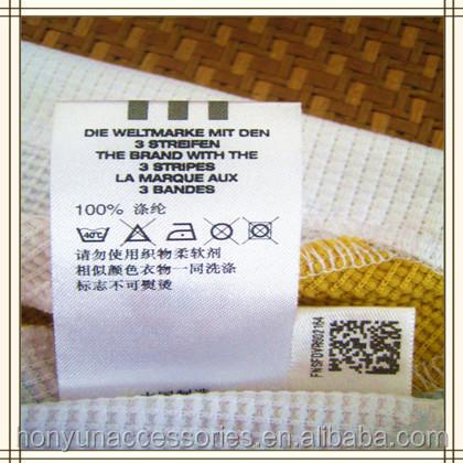 Custom Satin Washing Care Instruction Label Buy Care Instruction