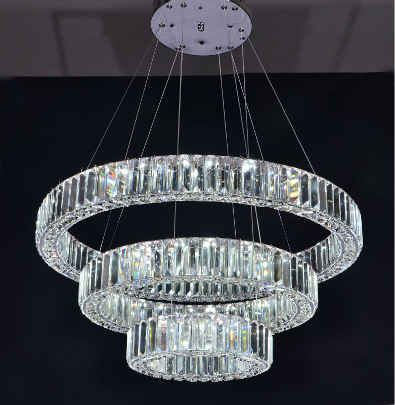 Three Rings Modern Luxury Crystal Chandelier Led Lighting
