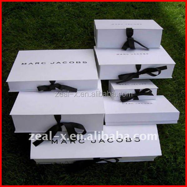 Luxus custom design white paper folding boxes kleid for Wedding dress shipping box