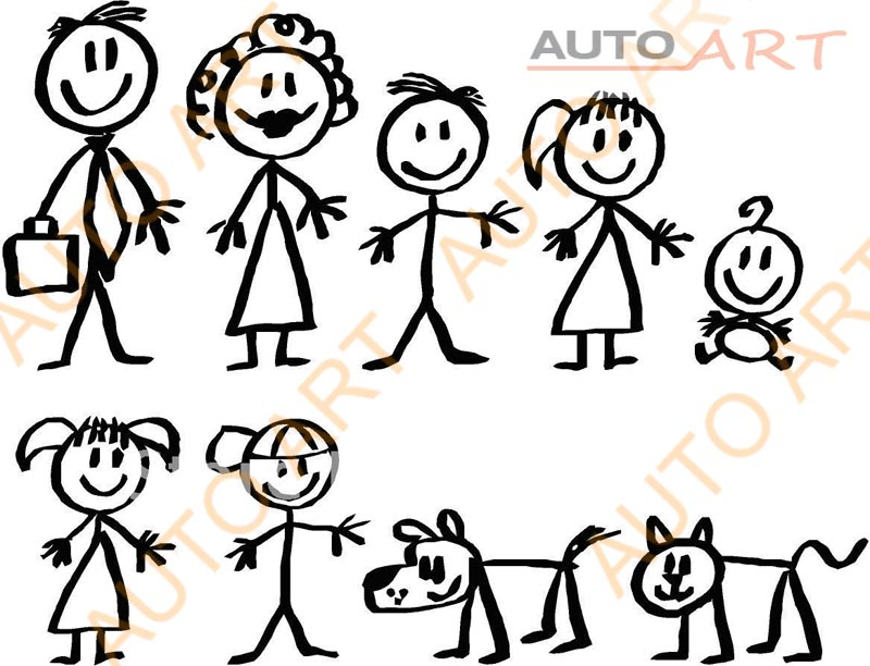 Fun Classic Stick Figure Family Window Sticker Decal Buy Window - Family window decals