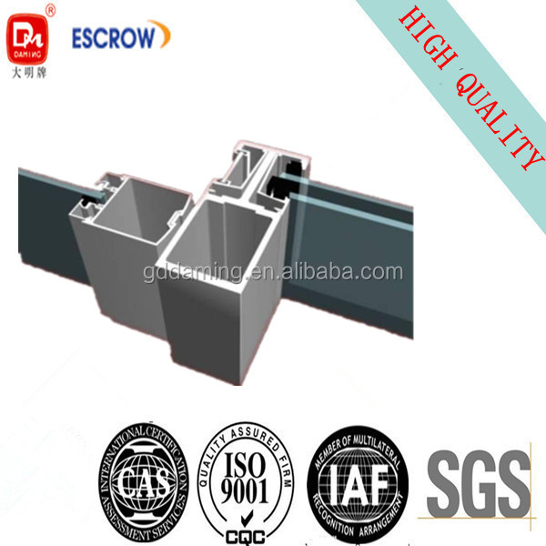 Aluminum Profile For Curtain Wall Cross Section Drawing - Buy ...
