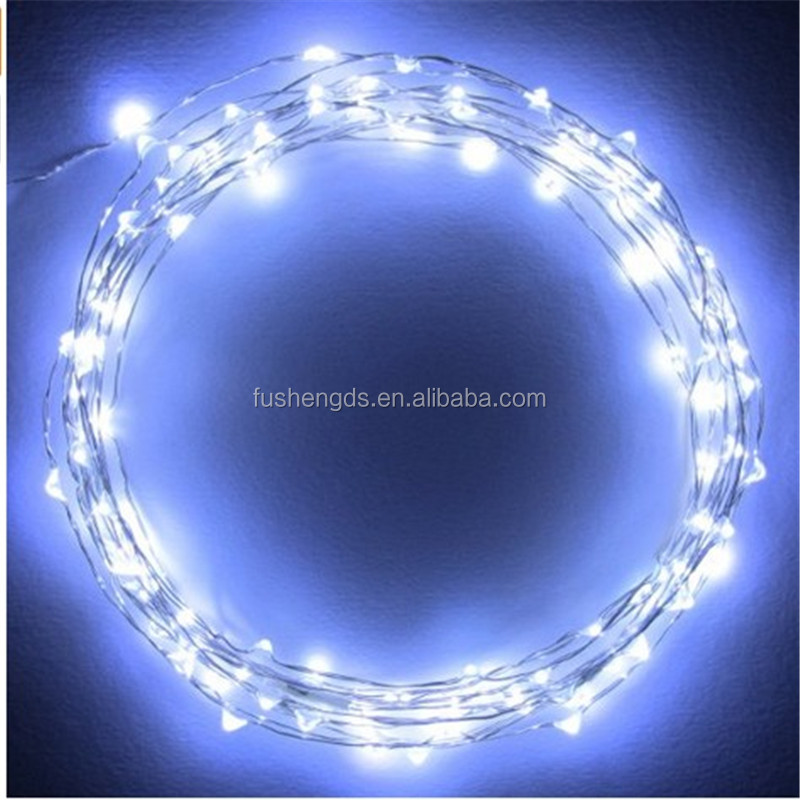 10m 100 Led Eight-pointed Star Silver Thread Fairy String Lights ...
