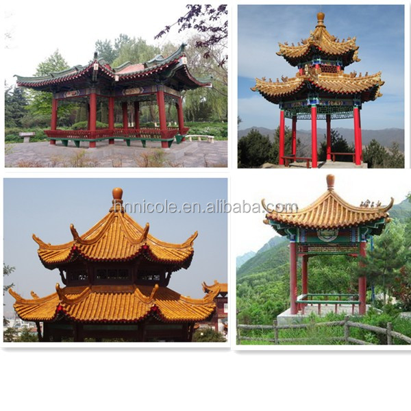 Oriental Building Asian Style Clay Roof Tiles Garden Architecture ...