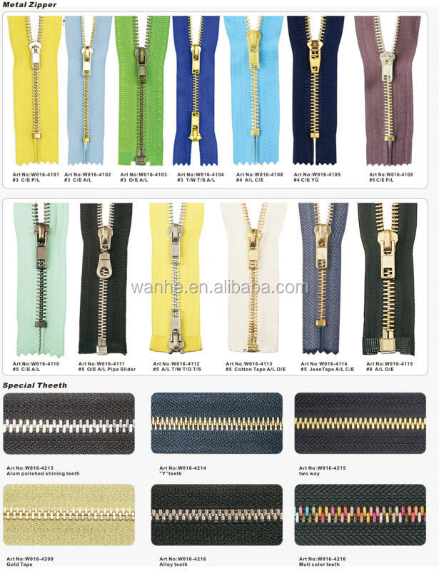 5# Close-End Metal Zipper