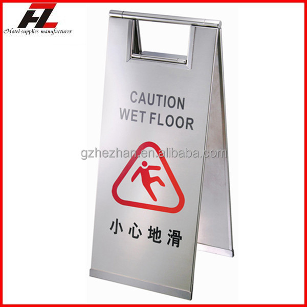 plastic warning yellow folding a frame sign floor stand cleaning