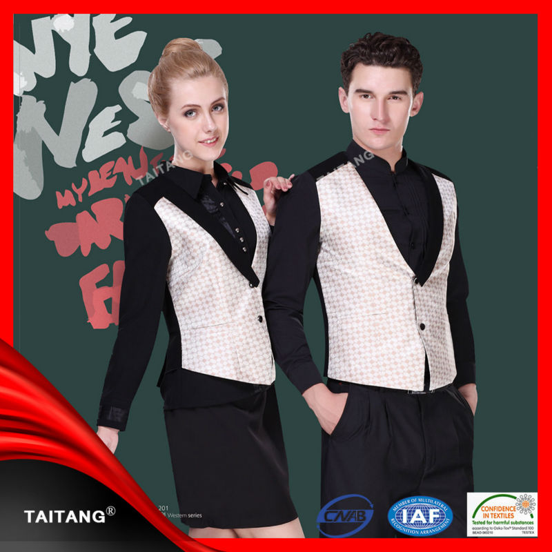 Luxury fabrics for italian custom restaurant hotel waiter for Uniform spa italy