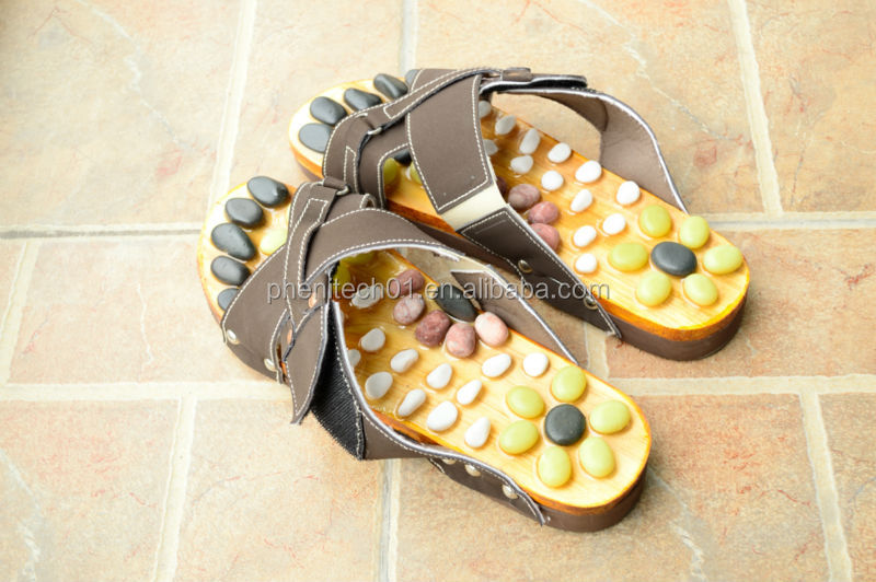 Hot-sale Useful Japanese Massage Slippers Stone Shoes