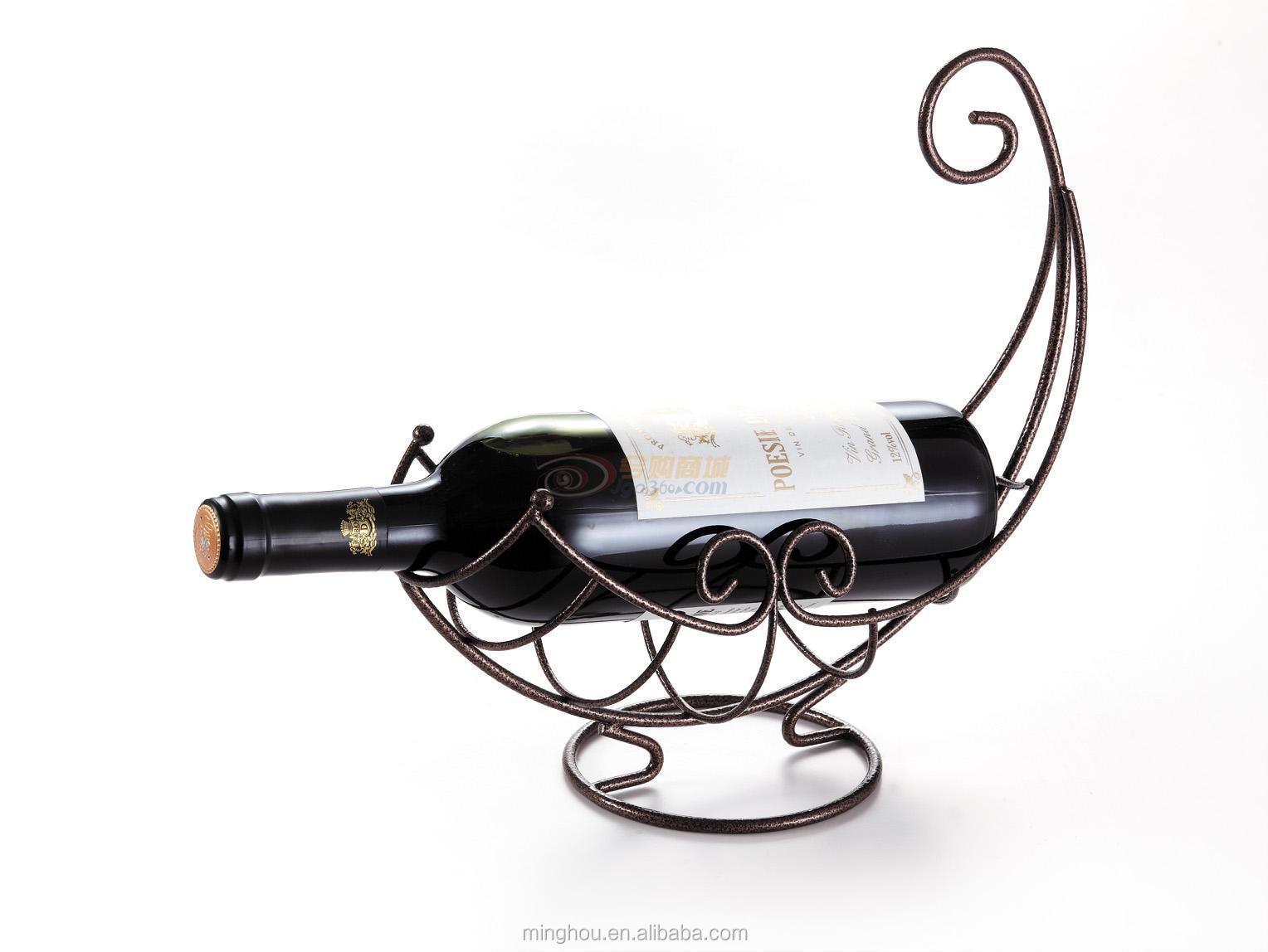 Unique Nest Metal Wine Bottle Holder Boat Shape Rack