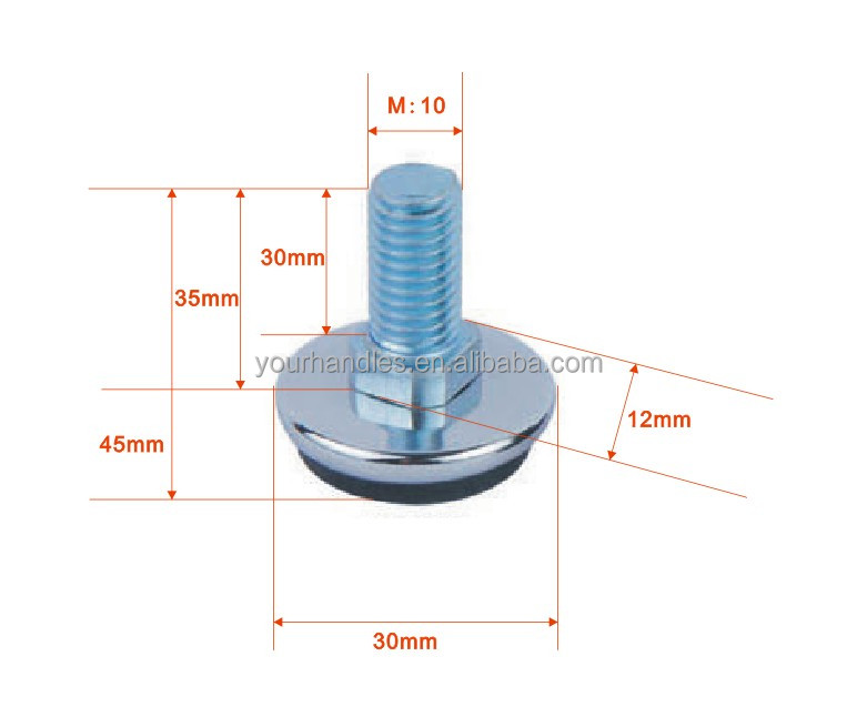 Marvelous M10 Plastic Furniture Glide And Leveling Feet Glides