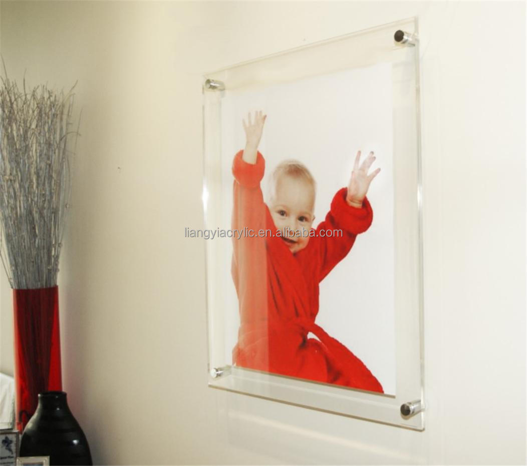 Acrylic Wall Frames high-end clear wall mount acrylic panel frames - buy wall mount