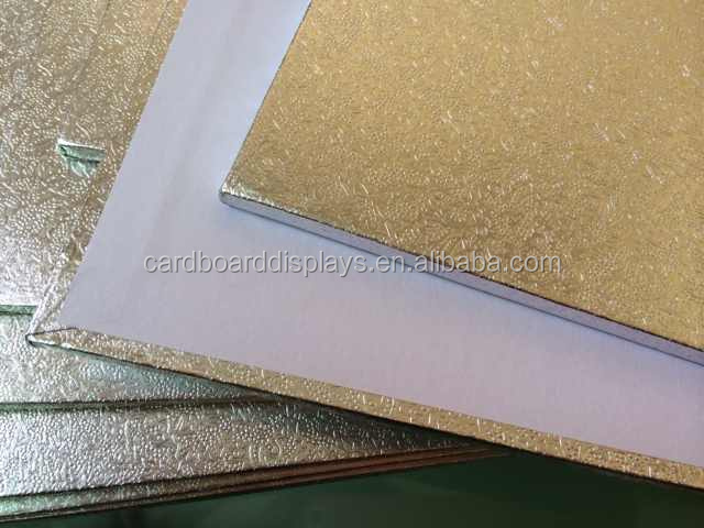Christmas MDF Square Gold Cake Board