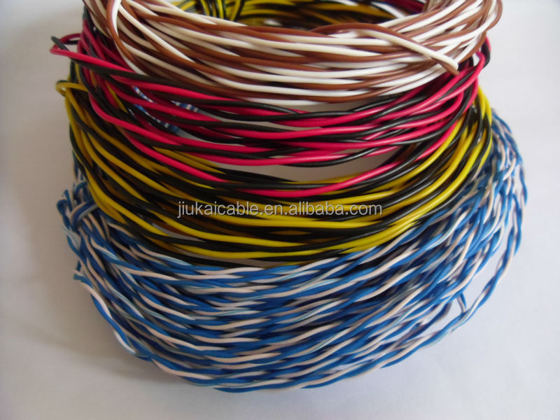 Pvc/pe 0.5mm Twisted Telephone Jumper Cable Wire 0.32/0.4/0.5mm/0.6 ...
