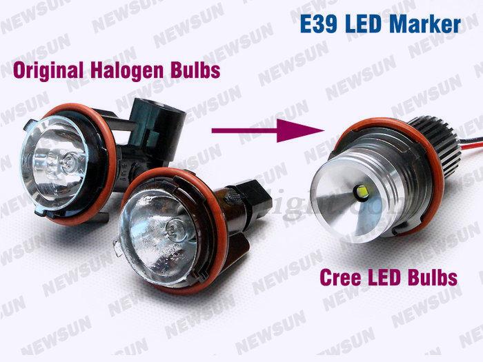 10w 7000k White Headlight C Ree Led Ring Marker Bulbs Angel Eye ...