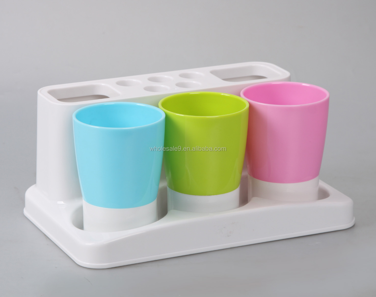 Plastic bathroom sets - Plastic Bathroom Accessories Set Toothbrush Holder Toothpaste Holder Tumbler