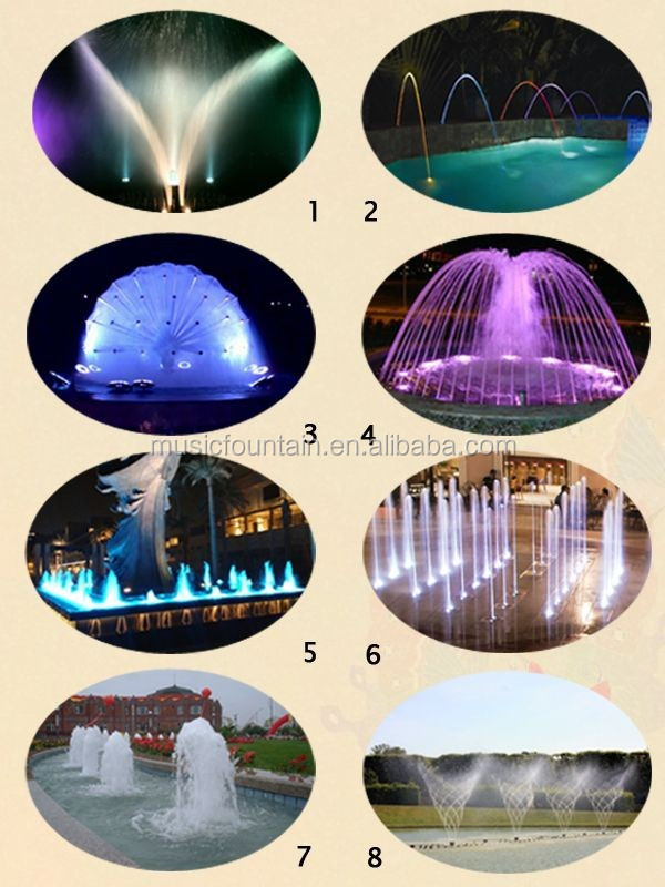 Hot Sale Simple Style Pool Water Dancing Music Garden Fountain