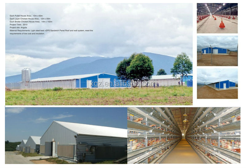 Light Steel Frame Commercial Prefab Poultry Farm Construction Building