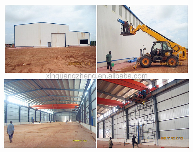 Warehouse structural design light steel frame construction building