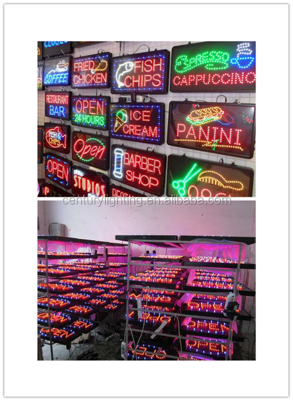 wholesale pizza open animated led sign