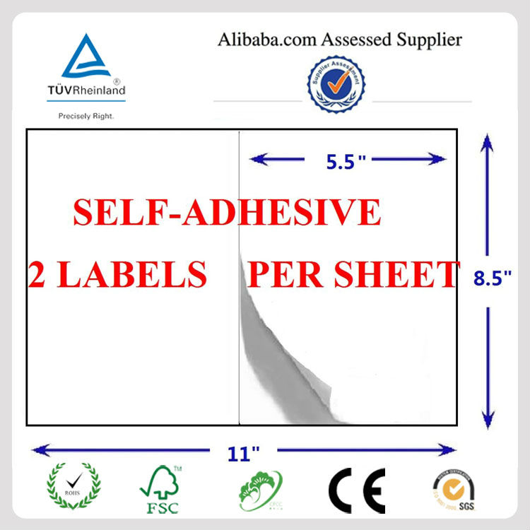 Adhesive Perforated 11x8 5 Sheet Shipping Labels Manufacturer For  Paypal,Usps - Buy Shipping Labels,Shipping Labels,Shipping Labels Product  on