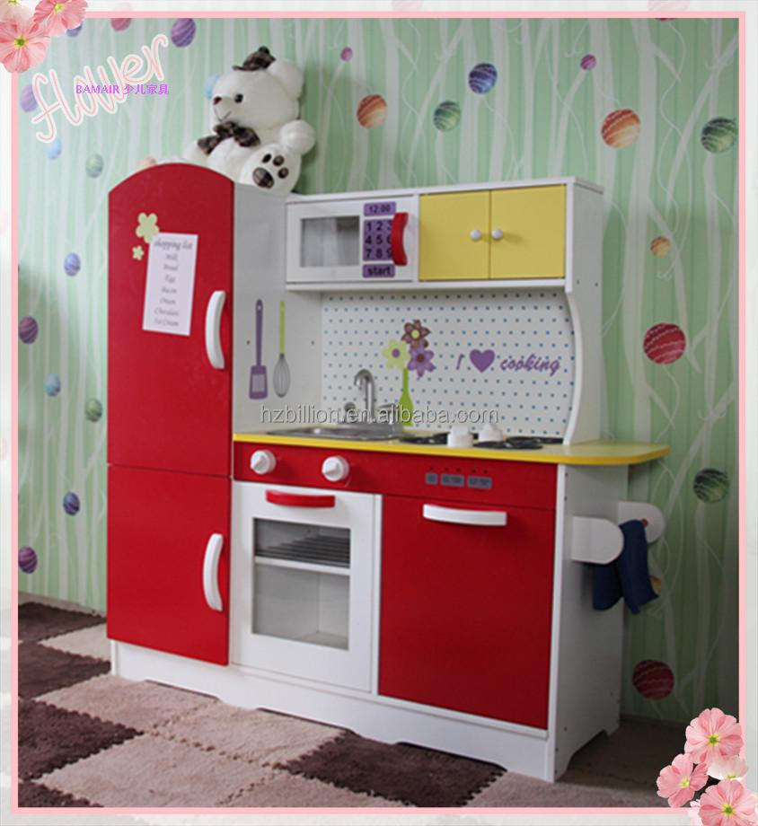 Cheap and finest quality pretend play wooden kids kitchen for Cheap childrens kitchen sets