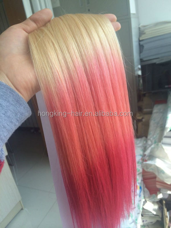 Ombre brazilian remy human hair extensions blonde pink purple blue ombre brazilian remy human hair extensions blonde pink purple blue clip in hair extension straight pmusecretfo Image collections