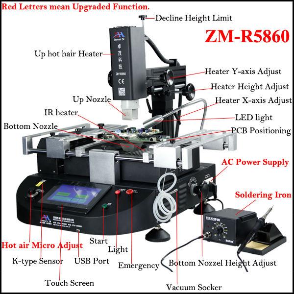 Bga Rework Station Zm R5860 Motherboard Chipset Repair,Best Bga Rework  Station/bga Chip Repair Machine/ir Bga Reballing - Buy Bga Rework Station  Zm