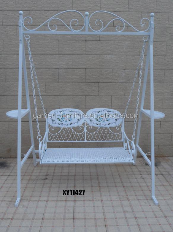 Wrought Iron Double Lover Comfortable Metal Garden Swing Chair Buy