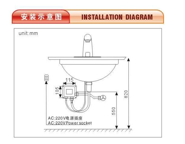 Factory produce faucet/ Automatic induction mixer kitchen water tap