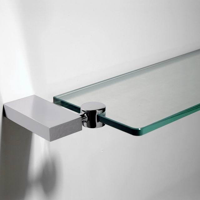 Vierkante Rvs Badkamer Hoekplank Met Messing Base Hoek Opslag Glas ...