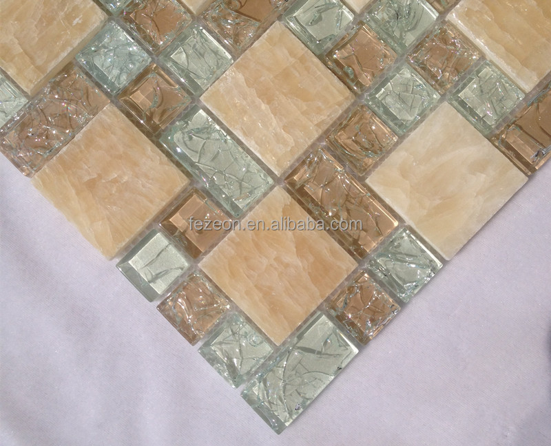 Crackle cristallo mattonelle di mosaico backsplash piastrelle