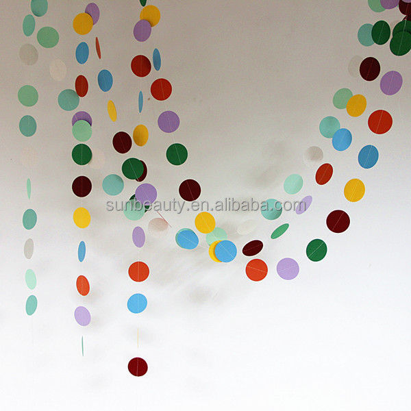 Party Items And Supplies Hanging Paper Garland Party Hall Decoration