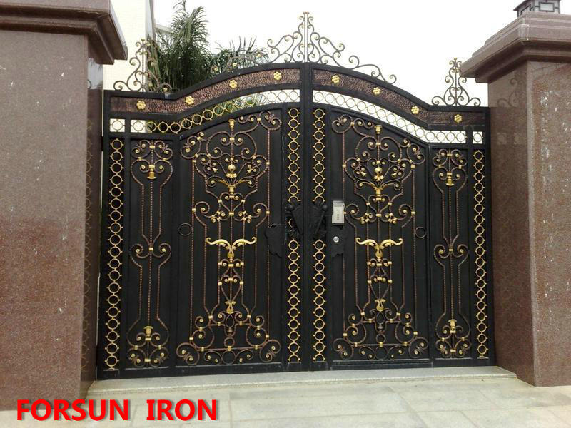Powder coated iron gate grill design door grill design for Door gate design
