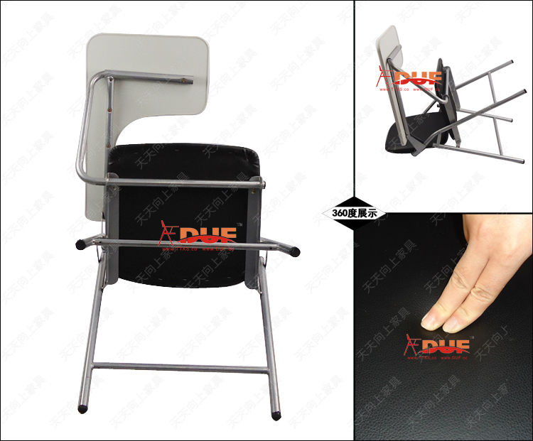 Standard Size Of School Desk Chair Tablet Arm Folding Chair With Writing  Pad Wholesale Price Free