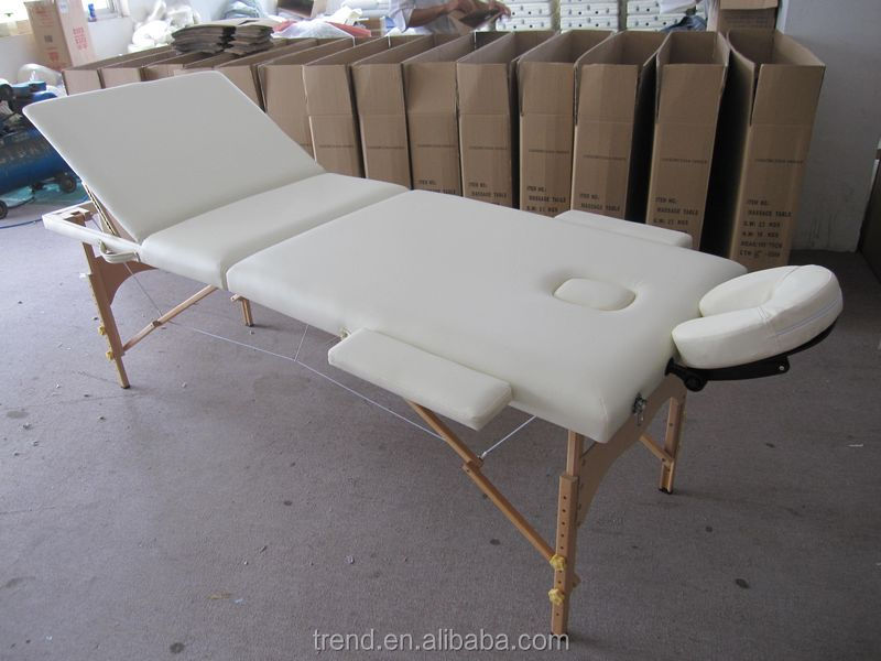 3section wooden massage table