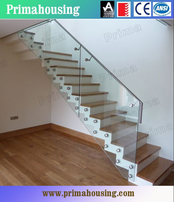Indoor Glass Stair Railings For Staircase Glass Railing Designs PR L20
