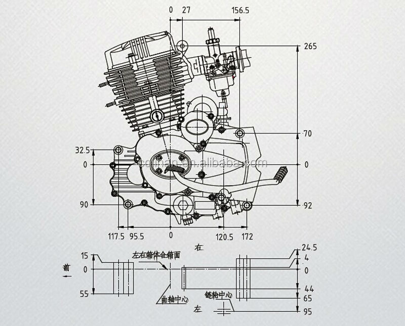 lifan engines air cooled 4 stroke cg250 motorcycle engine 250cc china buy motorcycle engine